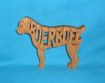 Boerboel Dog Scroll Saw Wooden Puzzle