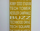 GEORGIA TECH Yellow Jackets Handpainted Wood Subway Sign or customize your own