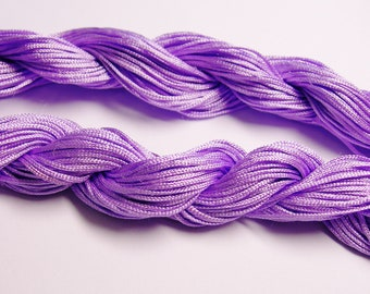 Knotting cord - nylon - beading cord - 50 meter - 164 foot - Lavender