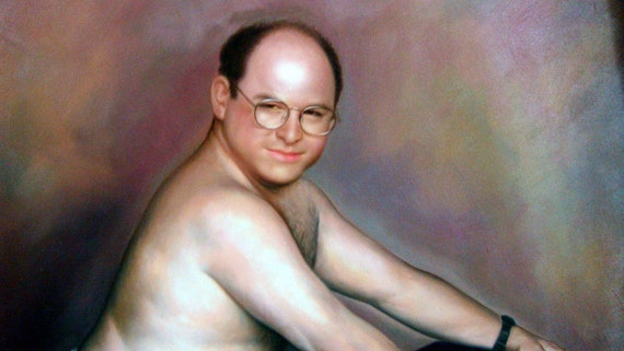 Seinfeld George Costanza Timeless Art of Seduction painting  24x36   100   money back guarantee. Seinfeld George Costanza Timeless Art of Seduction painting