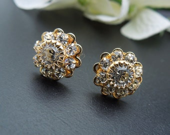 Bridal Stud Earrings Wedding Rhinestone Earrings crystal earrings Rhinestone Bridal Earrings swarovski Bridal earrings Stud Earrings JENNA