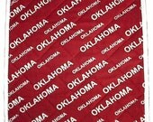 OU Oklahoma Sooners Hot Pad, handmade BBQ trivet quilted, 12 x 12