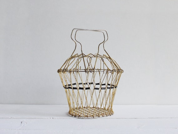 Vintage wire basket, A French wire basket that was used to spin salad