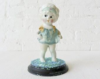 40% SALE - Vintage Doll Encased in Glass Dome - Ozma Emerald Return to Oz