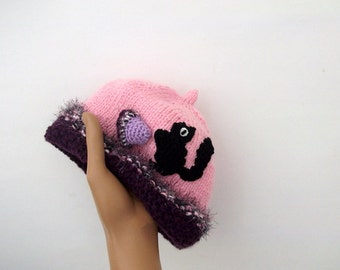 Acorn Hat for Girls-Knitting Baby  Hat  - for Baby or Toddler-baby boy costume