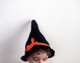 Black Good Witch hat - baby hallowen witch hat - 17 inch circumference -baby halloween outfits-sweet witch