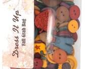 Jesse James Button Embellishments Seasonal Novelty Buttons Bulk Grab Bag Fall Medley Autumn