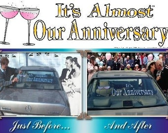 Wedding Banner Wedding Anniversary Banner Happy Anniversay Banner 2 PART
