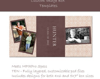 Instant Download - MPixPro Custom Image Box Template - EARTH COLLECTION - Templates for Photographers