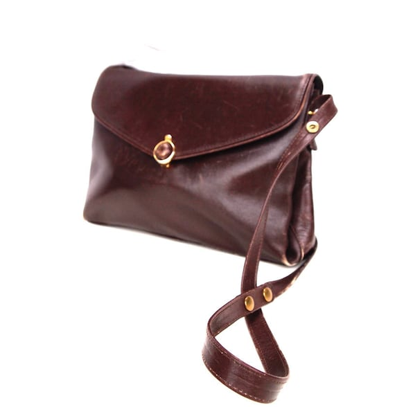 Natalie, French Vintage, Chocolate Brown Leather, 1960s, Handbag from Paris