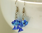 CLEARANCE Fish Glass Lampwork Bead Earrings