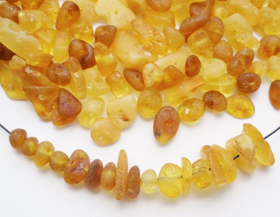 25% off - 250 pcs - Natural Baltic amber beads in various shapes and sizes - wholesale