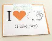 Love Ewe Greeting Card