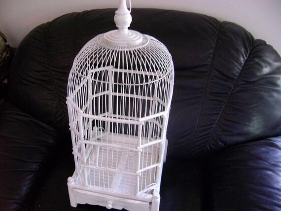 Vintage Bird Cage White