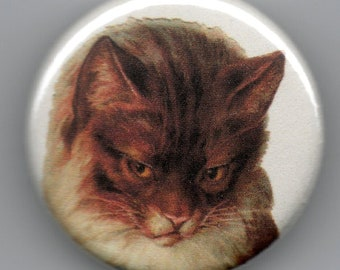 Shy Kitty Vintage Image 1.25 Button/Pin/Badge