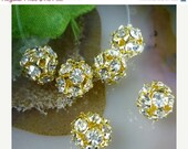 New style Basketball wives clear 9pcs Crystal Rhinestones  Spacer Beads 6mm