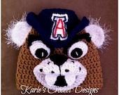 U of A / Wilbur / Wilber / University of Arizona Mascot / Beanie / Hat Crocheted