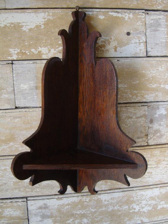 Vintage Shabby Chic Ornate Tramp Folk Art Shelf