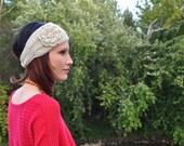 Crocheted Flower Headband / Earwarmer in Oatmeal