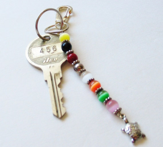 Keychain, Delightful Little Turtle, All the colors of the rainbow
