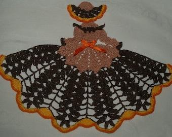 Autumn Crinoline Crochet  Doily Girl Pattern