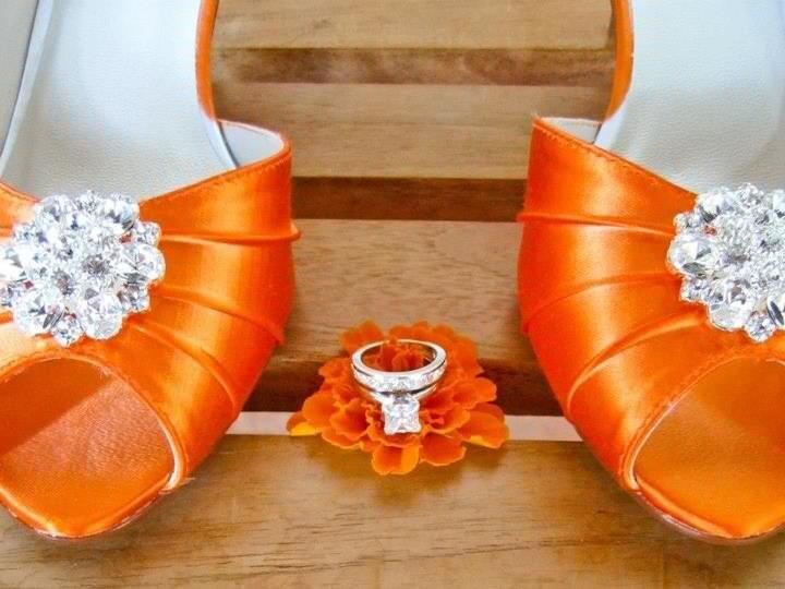 Orange wedding shoes 1 34 heel choose over 100 shoe colors zoom junglespirit Gallery