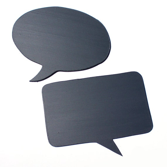 2 Large Chalkboard Speech Bubbles made from 1/4 inch MDF Perfect For Weddings, Photo Booth Props and more