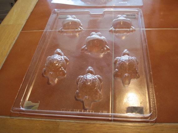2 Molds Chocolate Candy Little Angels and Frog and Turtle molds