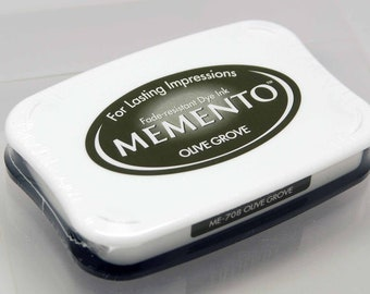 SALE Memento Dye Ink Stamp Pad -- Olive Grove -- NEW Color Great for Copic Markers