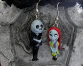 Nightmare Before Christmas Jack and Sally Earrings