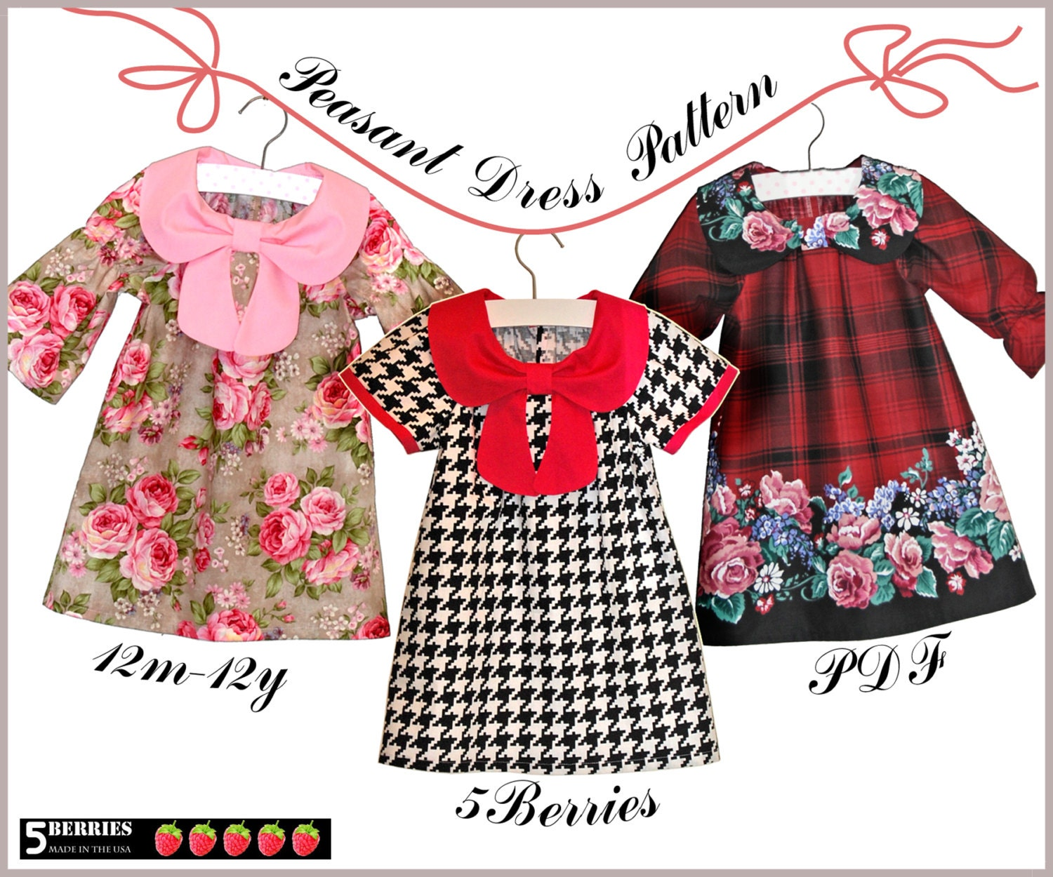 Ava Peasant Girls Dress Patterns Free Mother Daughter