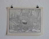 Vintage Map-City of Montreal-Early 20th Century