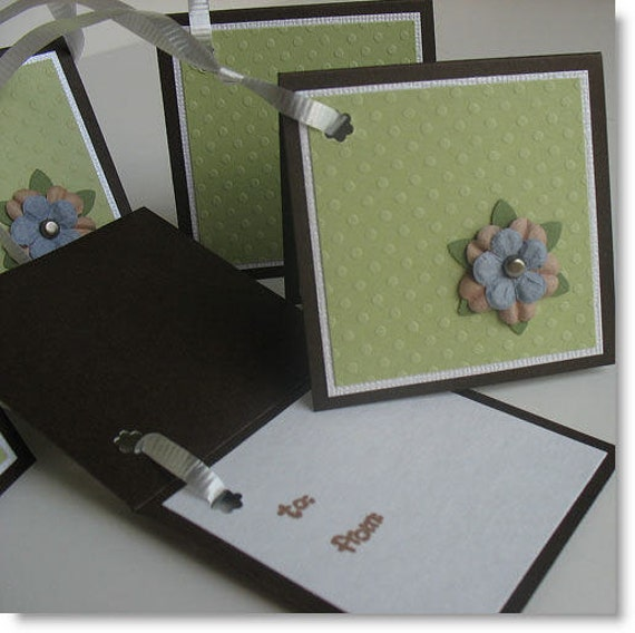 Gift Tags: Five Pack Set / Flip Open & Handmade - Fried Pickle Chips