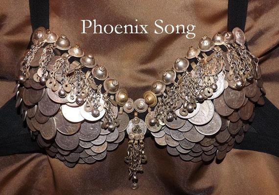Tribal Fusion ATS Bellydance Coin Bra, Phoenix Song