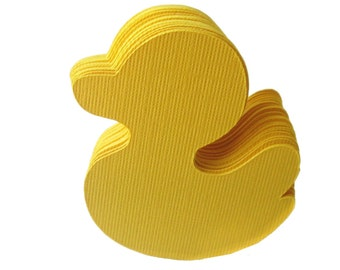50 Canary Yellow Ducks (2.2 inches) Textured Cardstock  die cut  A25