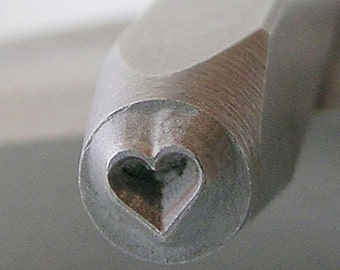 Heart Small Metal Design Stamp-Measures approx 2.5 mm-Metal Design Stamp-Metal Stamping Supplies for Personalized Jewelry