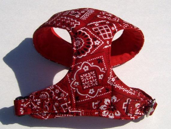 Comfort Soft Harness for small dog Bandana pattern