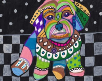 Cavachon Art Dog Poster art dog Poster Print of painting by Heather Galler (HG278)