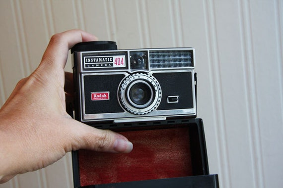 Vintage Camera Kodak Instamatic 404 with case Awesome collectible gift for photographer  man men