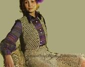 Skirt Bolero Bra Crochet PDF Vintage Pattern 314 from WonkyZebra