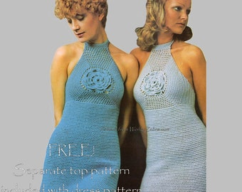 Vintage Crochet Crochetting Instructions Pattern PDF 092 Dizzy Dress from WonkyZebra