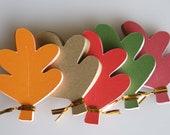 60 Fall Leaves Tags Embellishments