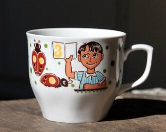 Beautiful vintage porcelain mug, made in USSR