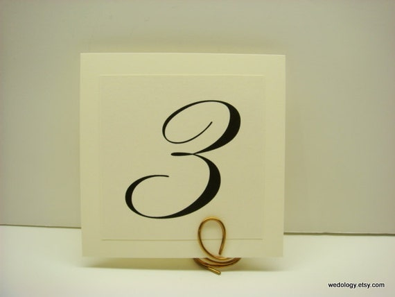 Table Numbers Wedding Table Decor Elegant Layered by wedology