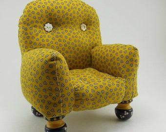 Mustard Yellow Pincushion Chair