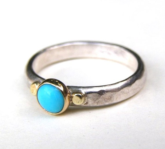 Turquoise ring silver ring - gold ring MADE TO ORDER