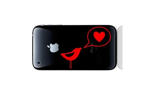 Bird Speaks Love Heart Word Bubble Smartphone IPhone Droid Sticker Decal