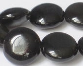 10mm Obsidian Coin Beads (15.5 inch Strand)  90-4-108.1