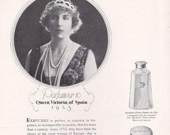 1920 Queen Victoria magazine Ad advertisement Elgin Railroad Watch HOUBIGANT French Paris PERFUME magazine Ad Advertisement TIFFANY Jewelry