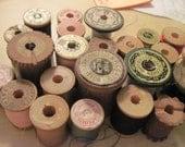 Twenty Three Wooden Spools of Thread